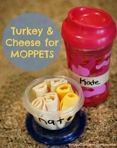 MOPPETS Snack Idea: Turkey and Cheese