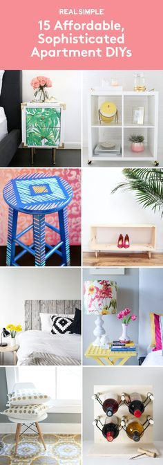15 Affordable, Sophisticated Apartment DIYs | If you don't have enough cash to decorate because you spent it all on your security deposit, these easy projects are budget-friendly.