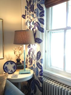 Navy and White Curtains Navy And White Curtains, Room, Home Decor, Style, Bedroom, Swag, Decoration Home, Room Decor, Rooms