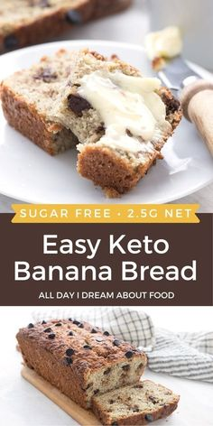 Look no further for the best keto banana bread recipe. Ground chia seed, that nutritional powerhouse, gives this bread the perfect banana bread texture without the sugars or carbs. Keto Chocolate Chip Cookies, Keto Cookies, Low Carb Sweets, Low Carb Desserts, Vegan Desserts, Low Carb Bread, Low Carb Keto, Sin Gluten, Keto Recipes