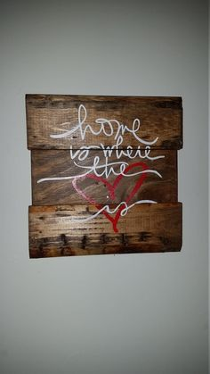 Home is Where the Heart Is Sign by HandMadebyHannahTN on Etsy