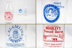Vintage milk bottles by H is for Home, via Flickr