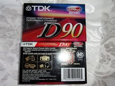 LOT OF 2 TDK D90 DYNAMIC PERFORMANCE CASSETTES NEW SEALED #TDK