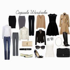 Capsule Wardrobe - Guarda-roupa básico, essencial e que monta diversos looks entre si.