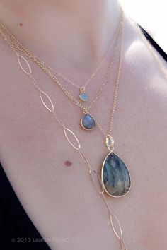 Leolani necklace labradorite gold necklace by www.kealohajewelry.etsy.com maui, hawaii CREDITS: Photography by Lauren Pisano Modeling by Marysia Klopotowski