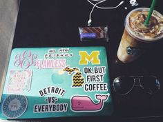 monogram detroit vs everybody flawless Preppy Stickers, Cute Stickers, Coque Macbook, Detroit Vs Everybody, Prep Life, Cute School Supplies, Macbook Decal, But First Coffee, Laptop Covers