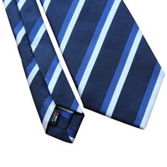 Pheobes & Dee Walwyn Seven Fold Tie in Blue with Blue and White accents. All our ties are handmade in Italy #sevenfoldtie #menswear #style #gentleman