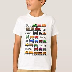 Too Many Trains T-Shirt Boys T Shirts, Cute Shirts, Vinyl Shirts, White Shop, Boy Outfits, Gifts For Kids, Colorful Shirts, Fitness Models, Trains