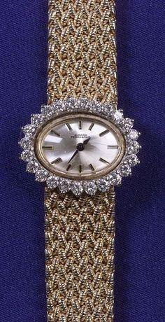 Lady's 14kt Gold and Diamond Wristwatch, Gerard Perregaux