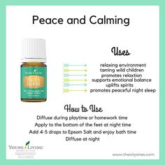 Peace and Calming Uses. You must get this oil if you have children! Trust me on this!!! www.theoildropper.com