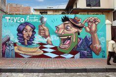 "Apitatán - Ilustrador Ecuatoriano .... ""TEVEO HASTEN LASOPA"" II Festival Internacional de Graffiti Atuntaqui Atuntaqui - Ecuador Street Art"
