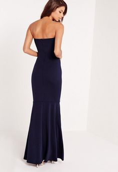 look ultimately flawless in this maxi dress. in a sexy shade of navy blue, bandeau style and a fishtail finish, you'll be looking smokingly elegant. style with barely there heels and a delicate clutch for all round evening vibes. make sure ...