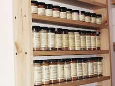 Giant Spice Rack full of Penzy's Spices