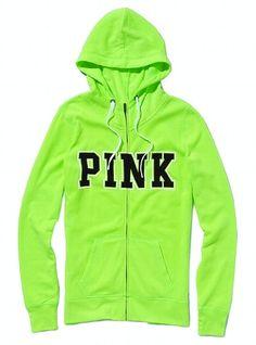 Neon Green Pink Hoodie