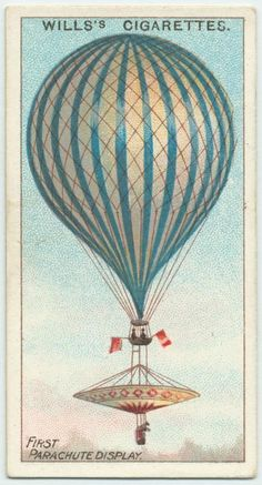 First parachute display, 1837 is part of Hot air balloons art - One of hundreds of thousands of free digital items from The New York Public Library Vintage Postcards, Vintage Images, Vintage Ephemera, Illustrations, Graphic Illustration, How To Draw Balloons, Air Festival, Vintage Drawing, Decoupage Vintage