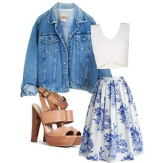 Untitled #7 by kayli98 on Polyvore featuring polyvore, fashion, style, BCBGMAXAZRIA, Chicwish and Steve Madden