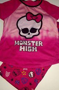 Monster High Girls Pajamas Set New Size 14 16 Sleepwear Shirt and Pants | eBay