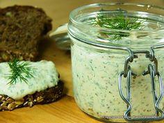 Kleiner Kuriositätenladen: Räucherforellen-Frischkäsecreme mit Meerrettich und Senf