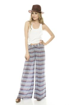These pants! Zig-zag patterned gaucho pants. Must have.