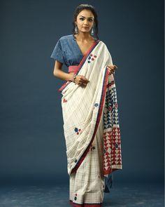 Find stunning statement saree collections from this brand! Sari Blouse Designs, Choli Designs, Designer Blouse Patterns, Kurta Designs, Indian Fashion Dresses, Ethnic Fashion, Stylish Blouse Design, Saree Trends, Stylish Sarees