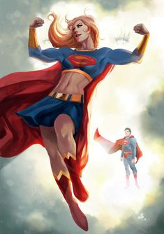 Supergirl Always Flexing by ellinsworth by cerebus873.deviantart.com on @deviantART
