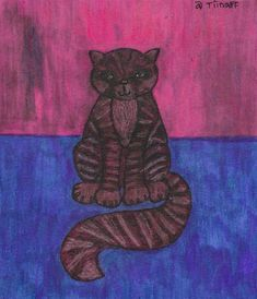 11th of April, 2018 Chestshire cat for Alice in Wonderland Mail Art Call in Portugal http://www.tiinafromfinland.com/mail-art/chestshire-cat/ #mailart #drawings
