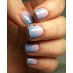 Weekend Manicure Idea Try This Cotton-Candy-Color Ombré Styl... - Polyvore