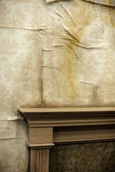 Water stains & aging wallpaper