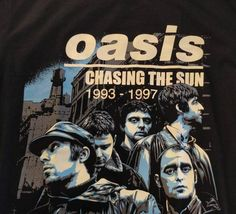 Oasis Chasing The Sun Vintage Band T Shirt Chest Measurement Noel Gallager, Vintage Band T Shirts, Chasing The Sun, Oasis, Trending Outfits, Etsy, Products, Bands, Gadget
