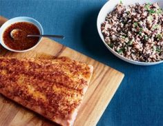 Easy Maple Glazed Salmon on Wild Rice (use the leftovers to make salmon cakes) Salmon Recipes, Fish Recipes, Seafood Recipes, Cooking Recipes, Healthy Recipes, Yummy Recipes, Healthy Snacks, Fish Dishes, Kitchens