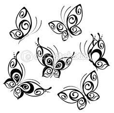 Stylized Butterfly tattoo
