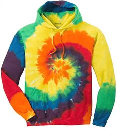 Buy Youth Colorful Tie-Dye Hoodies - Youth Sizes XS-XL - Rainbow Tie-dye - online, more latest style of Boys' Athletic Hoodies sale at affordable price. Tie Dye Sweatshirt, Tie Dye T Shirts, Sweater Hoodie, Polo Shirts, Sweat Shirt, Pullover, Rainbow Tie Dye Hoodie, Surf, Tie And Dye