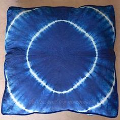 Mandala Tapestry Floor Cushion and Dog Bed: Indigo Shibori