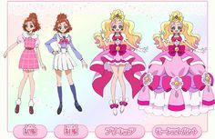 Haruka Haruno-con traje escolar-Cure Flora-Princess Cure Flora-elegant mode1 /slide4 GPP GO! PRINCESS PRECURE