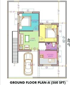 House plans with underground parking inspirational floor plan elegant garage ventilation design wi 2 Bedroom House Plans, Cottage Style House Plans, Duplex House Plans, Small House Plans, Cottage Homes, House Floor Plans, North Facing House, West Facing House, 20 Years Old