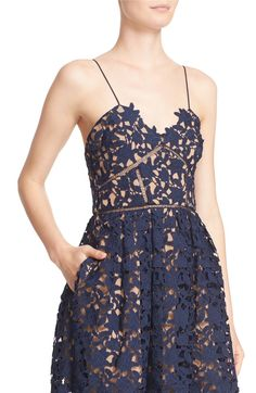 Main Image - Self-Portrait 'Azaelea' Lace Fit & Flare Dress
