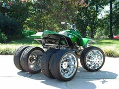 A 5 wheeled Trike. Wheelie machine!