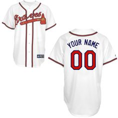 Atlanta Braves Replica Personalized Home Jersey