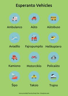 Esperanto vehicles                                                                                                                                                                                 More