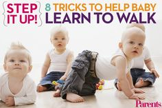 From sitting to crawling and cruising, find out how to help your baby learn to walk faster (and better).