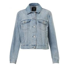 BLUE JEAN DENIM JACKET ($72) ❤ liked on Polyvore featuring outerwear, jackets, coats, long sleeve denim jacket, blue jackets, denim jacket, blue jean jacket and long sleeve jacket