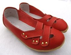 MAXINE LEATHER COMFORT FLAT - Red