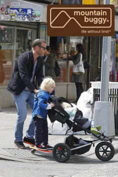 Get the stroller & scooter that Liev Schreiber and Naomi Watts use: The Mountain Buggy  Urban Jungle  & Freerider - Available from Cherish Me Dublin www.cherishme.ie  The Mountain Buggy Urban...