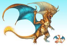 Realistic Pokemon: Charizard by ReneCampbellArt.deviantart.com on @deviantART