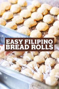 Try these fluffy and sweet Pandesal or Filipino Bread Rolls that can be eaten at any time of the day with any kind of spread! Enjoy!