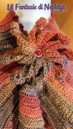 Crochet Multicolor Scarf by LeFantasiediNephtys