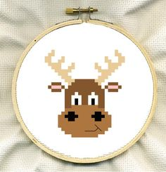 Cute Moose Cross Stitch PDF. £1,00, via Etsy.