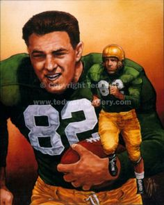 1949 Leon Hart - Notre Dame Heisman Trophy winner.  Leon played on 3 national champion collegiate teams, was an NFL All-Pro on both offense and defense in 1951 and won 3 NFL championships.