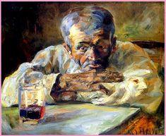 """Toulouse Lautrec """"Le buveur"""""""