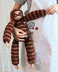 crochet sloth amigurumi